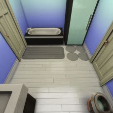 The shared Jack-n-Jill bathroom in between Bedroom 1 and 2